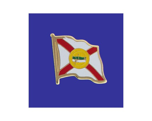 Florida State Flag Lapel Pin (Single Waving Flag) (Imported - Close Out)