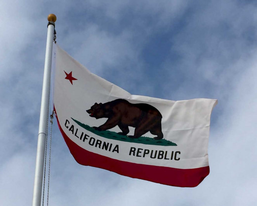 California Flag Flying