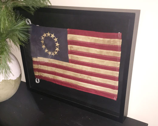 Framed Betsy Ross Flag
