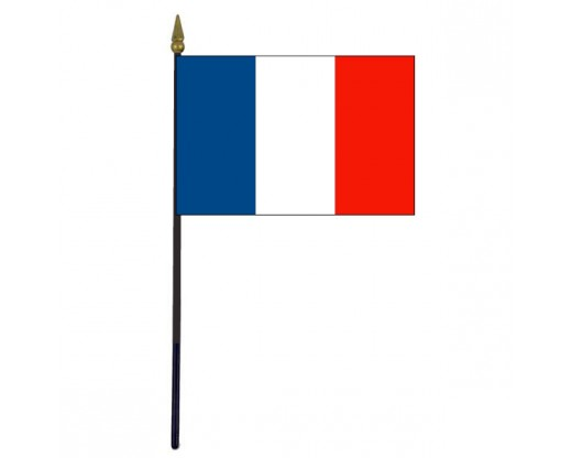 "France Stick Flag - 4x6"""