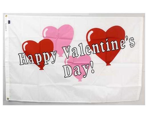 Valentine Balloons Flag - 3x5'
