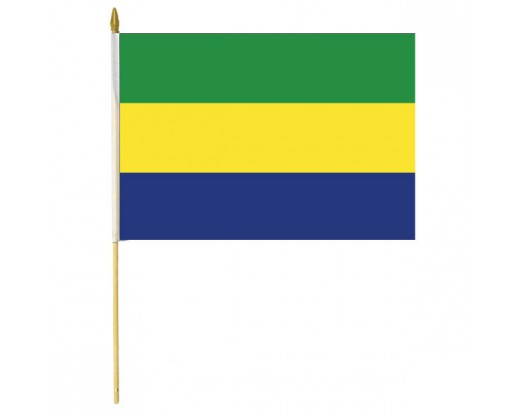 Gabon Stick Flag - 12x18""