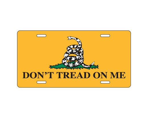 Gadsden License Plate