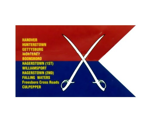 General Custer's 2nd Personal Guidon Flag - 3x5'