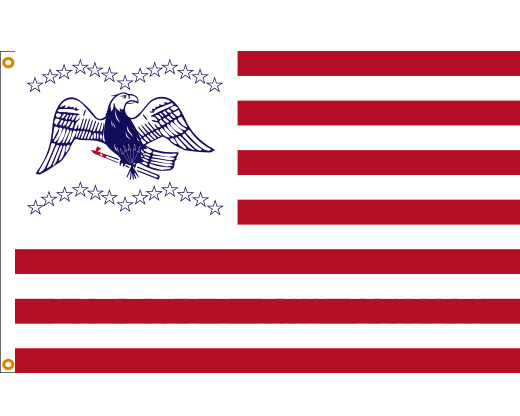 General Fremont Flag (White Canton)