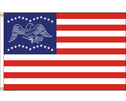 General Fremont Flag (Blue Canton)