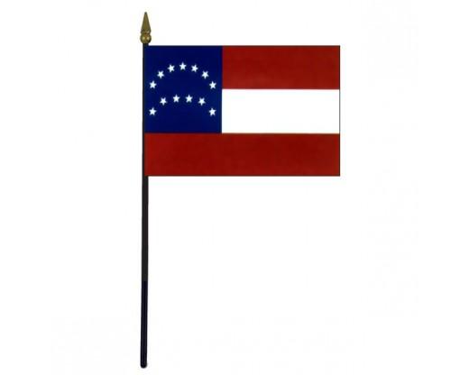 "General Lee's HQ Stick Flag - 4x6"""
