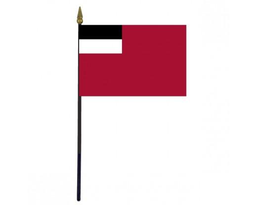 "Georgia Republic Stick Flag (Historical, -2003) - 4x6"""