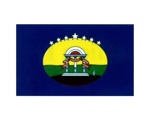 Georgia State - Confederate Flag - 3x5'