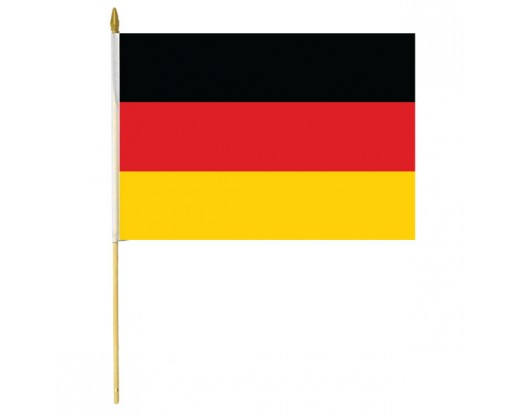 Germany Stick Flag - 12x18""
