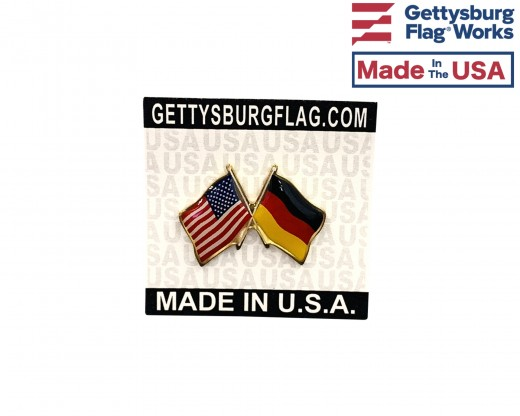 Germany Lapel Pin (Double Waving Flag w/USA)