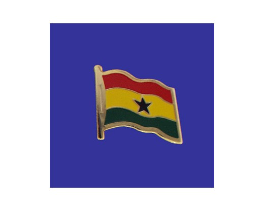 Ghana Lapel Pin (Single Waving Flag)