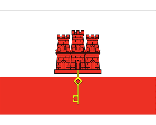 Gibraltar Stick Flag