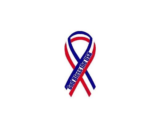 God Bless USA Ribbon Magnet