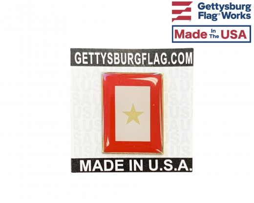 Service 1 Gold Star Lapel Pin (Vertical Rectangle)