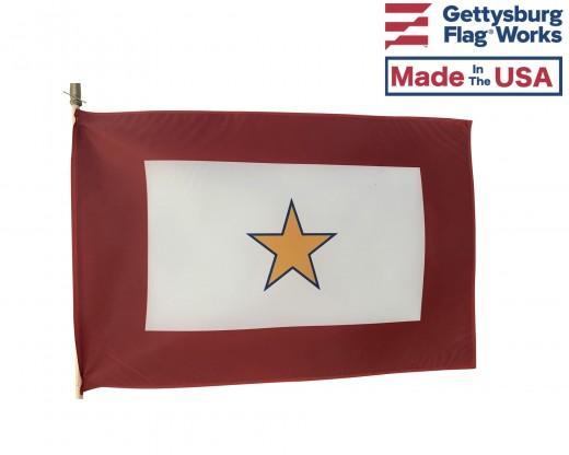 "Gold Star Service Stick Flag - 12x18"""