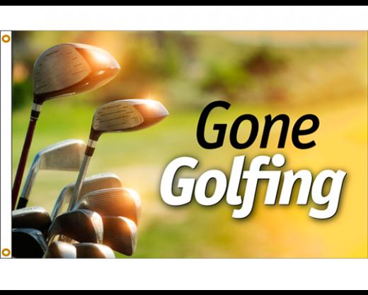 Gone Golfing Flag