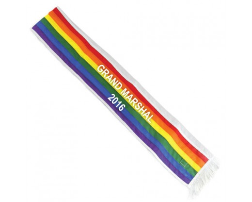 Rainbow Sash - Grand Marshal 2016 - 6'
