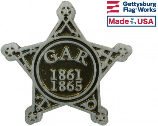 GAR Civil War Aluminum Grave Marker
