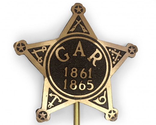 Civil War (GAR) Bronze Grave Marker