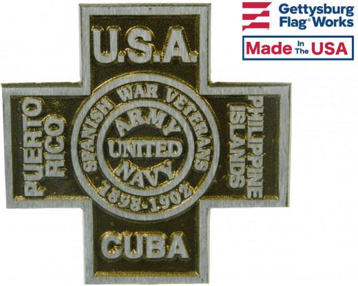 Spanish American War Aluminum Grave Marker