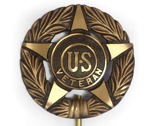 US Veteran Bronze Grave Marker