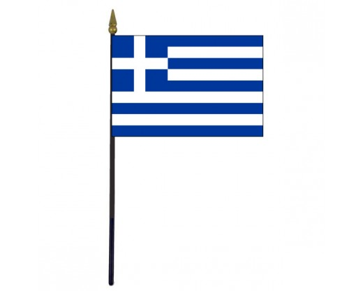 Greece Stick Flag