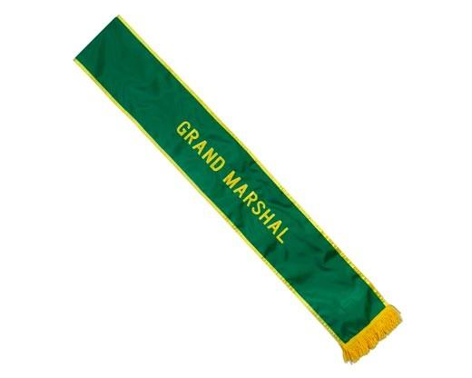 Grand Marshal Green Parade Sash