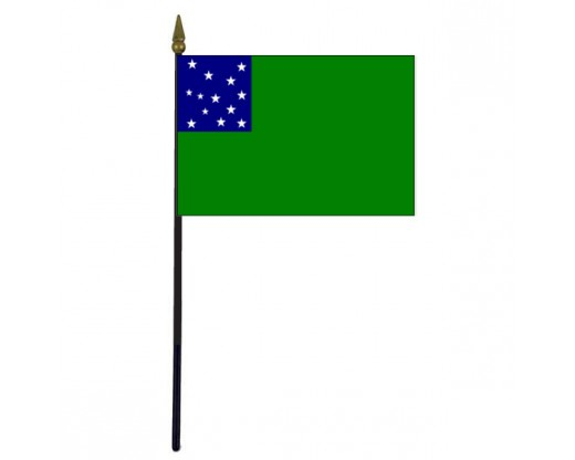 Green Mountain Boys Stick Flag - 4x6""