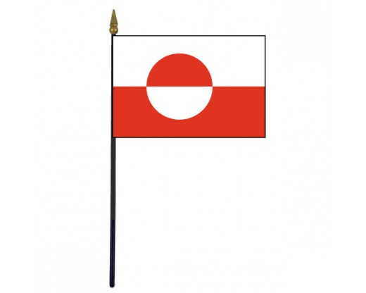 "Greenland Stick Flag - 4x6"""