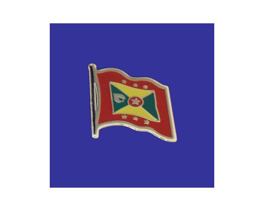 Grenada Lapel Pin (Single Waving Flag)