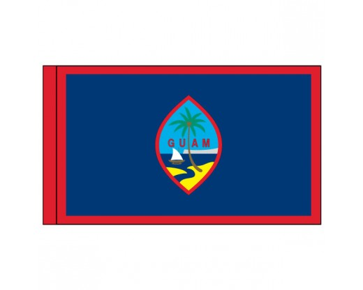 "Guam Flag, Nylon, 3"" Pole Sleeve - 3x5'"