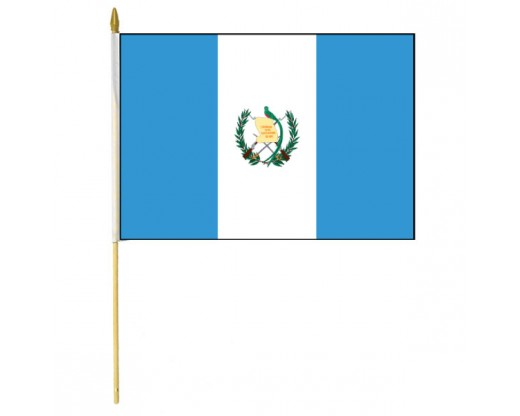Guatemala Stick Flag (with Seal)