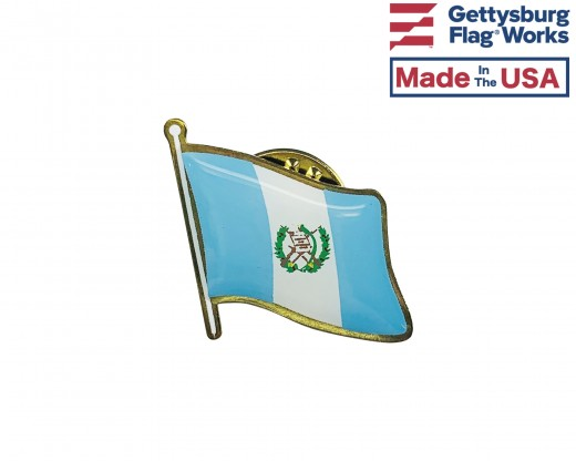 Guatemala (seal design) Lapel Pin (Single Waving Flag)