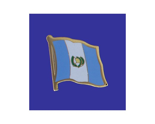 Guatemala (seal design) Lapel Pin (Single Waving Flag)