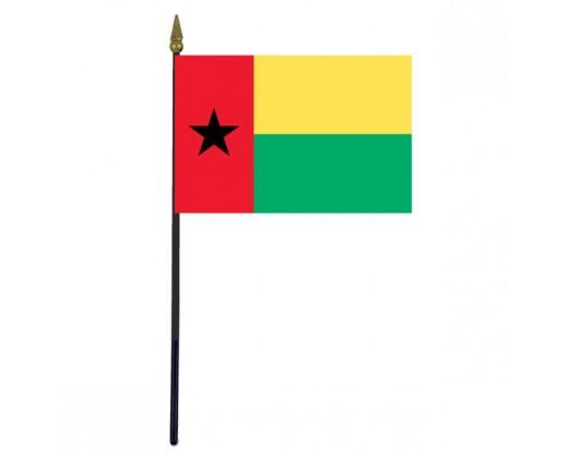 """Guinea-Bissau Stick Flag - 4x6"""""""