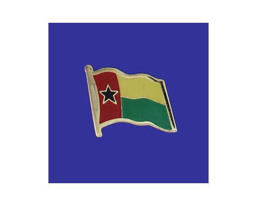 Guinea Bissau Lapel Pin (Single Waving Flag)