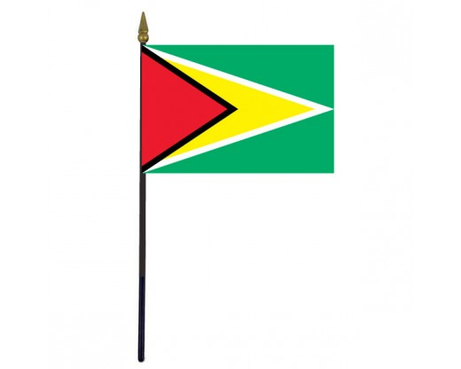 Guyana Stick Flag - 4x6""