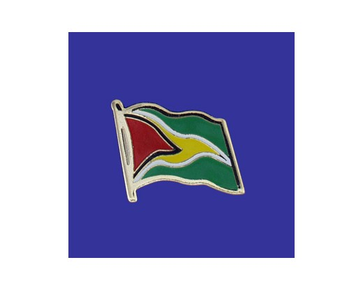 Guyana Lapel Pin (Single Waving Flag)