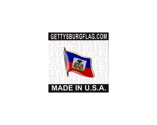 Haiti (historical seal design) Lapel Pin (Single Waving Flag)