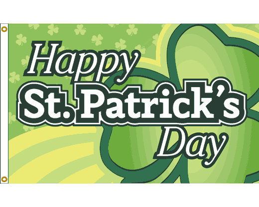 St. Patrick's Day Giant Shamrock Flag - 3x5'