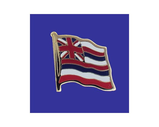 Hawaii State Flag Lapel Pin (Single Waving Flag) (Imported - Close Out)