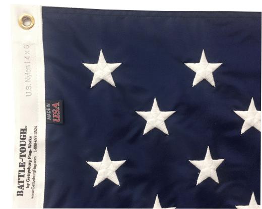 Battle-Tough® American Flag Header