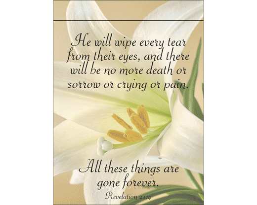 He Will Wipe Every Tear Garden Flag