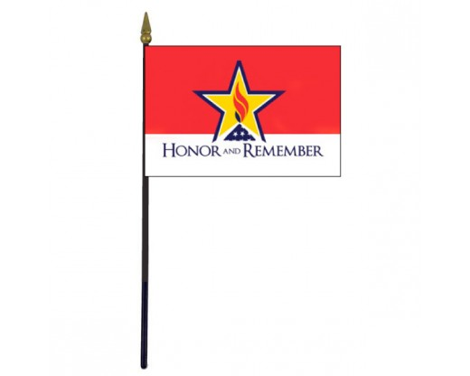 Honor and Remember Stick Flag - 4x6""