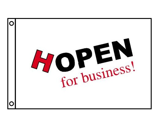 HOPEN For Business Flag, Horizontal - 2x3'