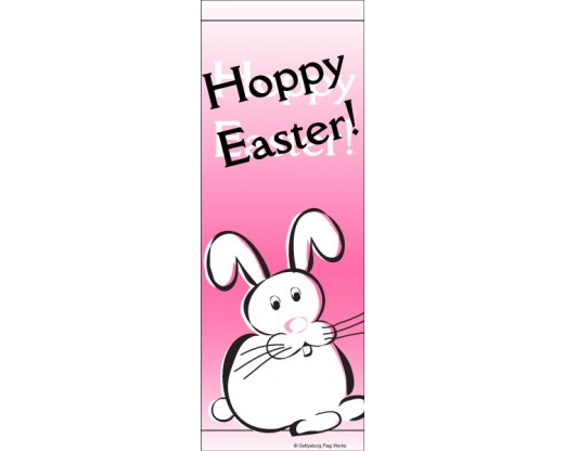 Hoppy Easter Avenue Banner - Pink