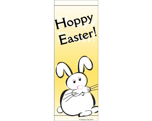 Hoppy Easter Avenue Banner - Yellow