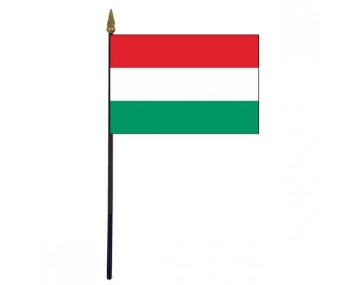 "Hungary Stick Flag - 4x6"""