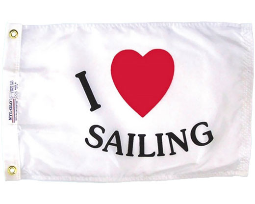 I Love Sailing Flag